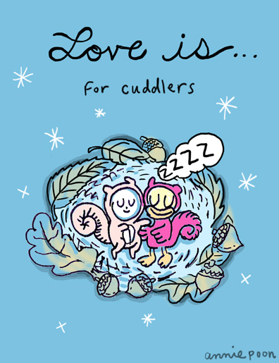 9.For Cuddlers